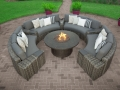 Orsay Curved Sofa Sectional Smoke with Round Fire Pit Heritage Granite Cushions-Camden Graphite Pillows (21)_taupe