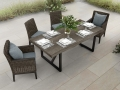 Remy Dining with Armrest Caps Hickory - Lawndale Table Hickory